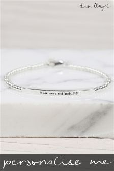 Personalised Beaded Bar Bracelet by Lisa Angel