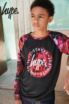 Hype. Printed Raglan Long Sleeved T-Shirt