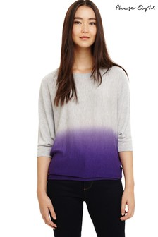 Phase Eight Purple Dya Knit Jumper