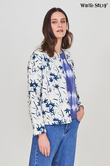 White Stuff Grey Pressed Flower Quilted Jacket