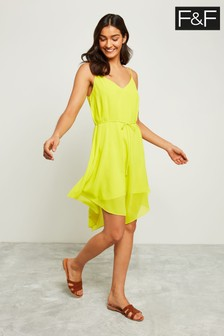 F&F Lime Hanky Hem Dress
