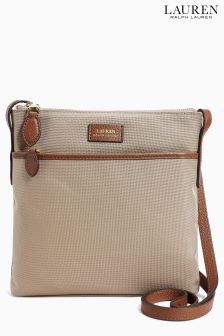 Lauren Ralph Lauren® Beige Nylon Cross Body Bag