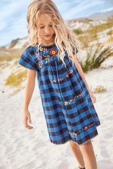 Embroidered Smock Dress (3-16yrs)