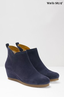 White Stuff Navy Aimee Wedge