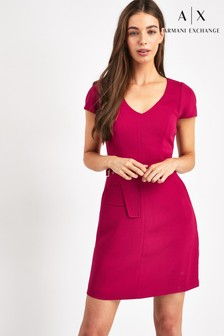 Armani Exchange Pink Twill Dress