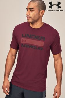 Under Armour Logo-T-Shirt, dunkelbraun