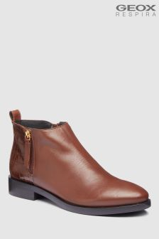 Geox Brogue Brown Ankle Boot