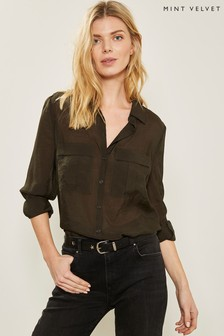 d44b90933b1 Mint Velvet Khaki Utility Shirt