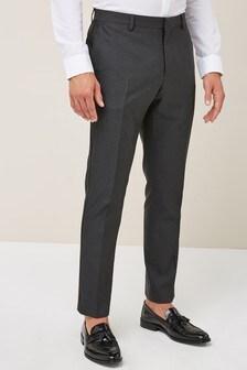 Jacquard Skinny Fit Tuxedo Suit: Trousers