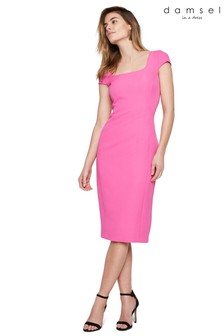 Damsel In A Dress Pink Sheridan Fitted Dress