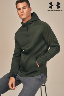 Under Armour Artillery Green Unstoppable Zip Through Hoody