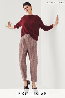 Mix/Isa Arfen Belted Check Capri Trouser