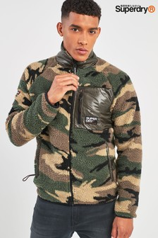 Superdry Camo Mountain Sherpa Fleece Hoody