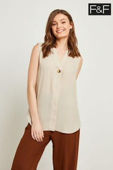 F&F Neutral Utility Shell Top