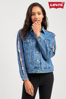 Levi's® Ex Boyfriend Trucker With Sequin Side Stripe