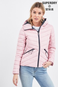Superdry Pink Fuji Hooded Jacket
