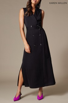 Karen Millen Black Soft Daywear Dress