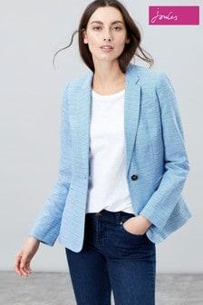 Joules Blue Leonie Cotton Blazer