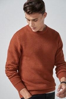 Textúrovaný pulóver