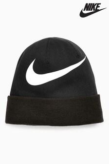 Nike Black Swoosh Beanie