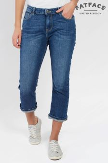 FatFace Denim Mid Wash Crop Jean