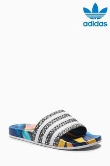 adidas Originals Blue Flower Print Adilette
