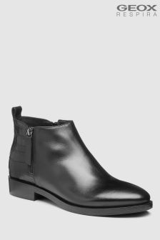 Geox Brogue Black Ankle Boot