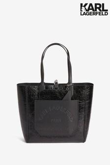 Karl Lagerfeld Black Reversible Journey Tote Bag