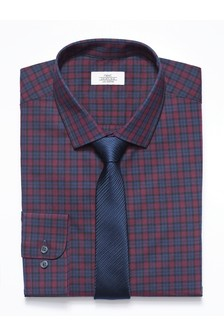 Check Shirt With Tie Pack
