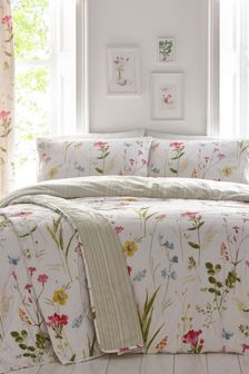 Spring Glade Floral Duvet Cover And Pillowcase Set by D&D