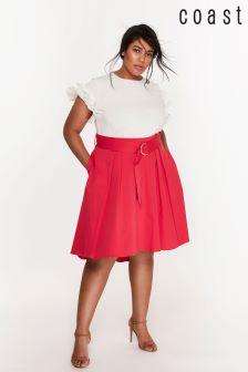 Coast Curve Pink Gabbi Belted Skirt