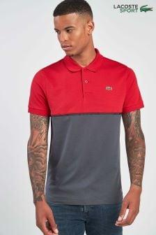 Lacoste® Sport Red/Graphite Colourblock Polo