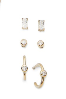 Sterling Silver Studs Three Pack