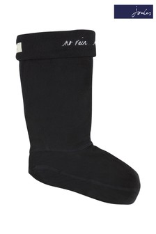 Joules Blue Welton Embroidered Welly Sock