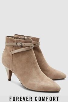 מגפיים עם עקב קונוס של Forever Comfort
