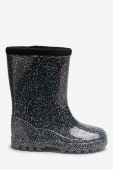 Cosy Lining Glitter Wellies (Younger)