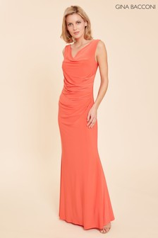Gina Bacconi Orange Stella Maxi Dress