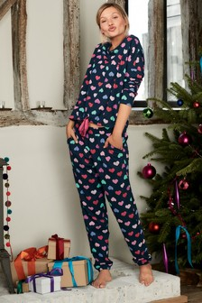 Pyjama noué à la taille pour femme