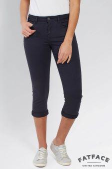 FatFace Dark Sky Garment Dye Crop Jean