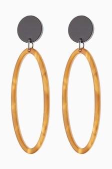 Oval Resin Drop Earrings