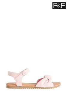 F&F Older Girls Pink Knot Sandals