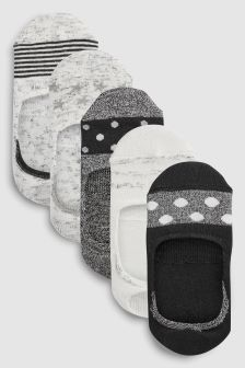 Spot Invisible Trainer Socks Five Pack