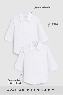2 Pack Three Quarter Sleeve Blouse (3-16yrs)