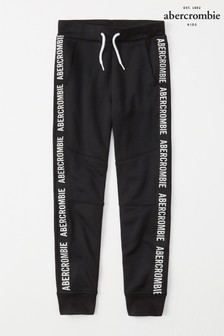 Abercrombie & Fitch Black Taped Jogger