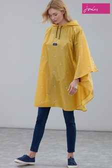 Joules Yellow Printed Showerproof Poncho