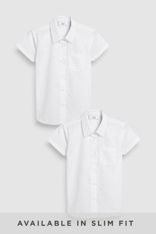 Plus Fit Short Sleeve Formal Shirt Two Pack (3-16yrs)