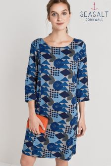 Seasalt Freshwater Dress Block Geo Marine