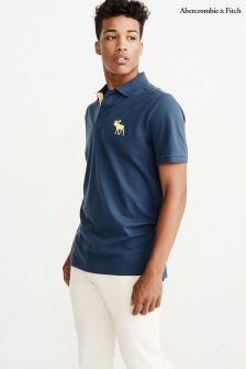 Abercrombie & Fitch Blue Large Moose Poloshirt
