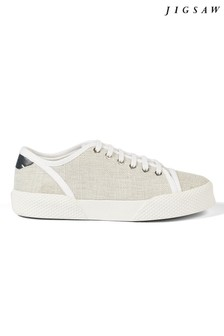 Jigsaw Grey Estelle Canvas Plimsoll