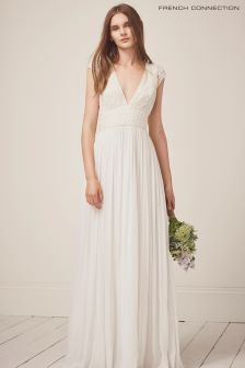 French Connection White Palmero Bridal Long Dress